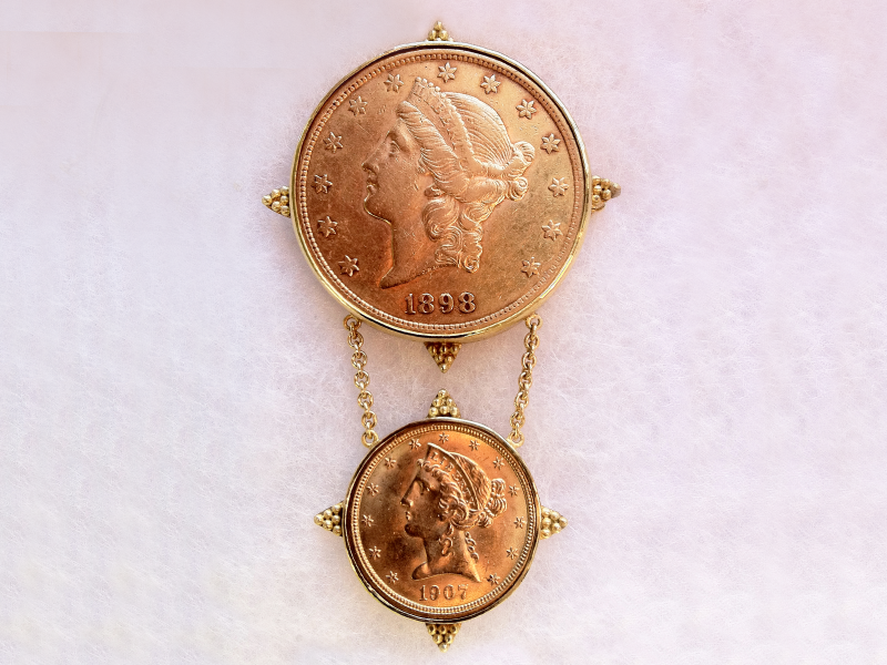 coin-&-drop-coin-brooch-vertical