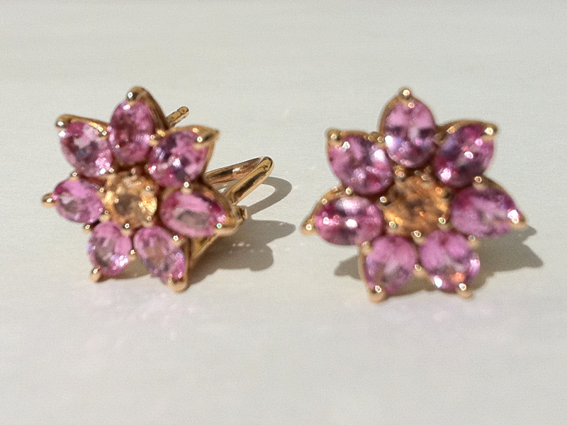 pink-flower-earrings